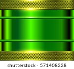 Green Metallic Background ...