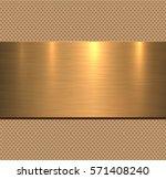 background gold metal texture ... | Shutterstock .eps vector #571408240