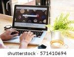 bangkok. thailand.january 24 ... | Shutterstock . vector #571410694