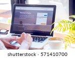 bangkok. thailand.january 24 ... | Shutterstock . vector #571410700