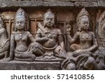 bas relief in angkor thom ... | Shutterstock . vector #571410856