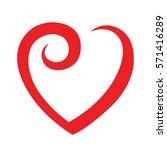 heart red | Shutterstock .eps vector #571416289