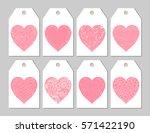 vector love theme set of gift... | Shutterstock .eps vector #571422190
