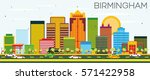 birmingham skyline with color