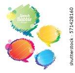 abstract speech bubble design... | Shutterstock .eps vector #571428160