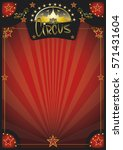 circus retro red poster. a new... | Shutterstock .eps vector #571431604