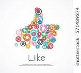 gears like symbol for social...   Shutterstock .eps vector #571439374