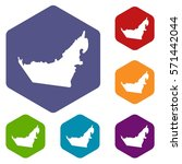 united arab emirates map icons... | Shutterstock .eps vector #571442044