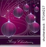 merry christmas background | Shutterstock .eps vector #57144217