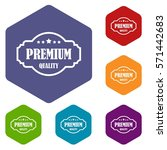 premium quality label icons set ... | Shutterstock .eps vector #571442683