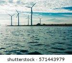wind turbines generator farm... | Shutterstock . vector #571443979