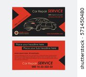 auto repair business card... | Shutterstock .eps vector #571450480