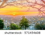 sunrise in paris  france.... | Shutterstock . vector #571454608