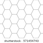 honeycomb outline | Shutterstock .eps vector #571454743