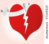 heart with ribbon vector...   Shutterstock .eps vector #57145525