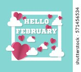 Hello February Sign With Heart...