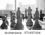 chess game wooden chess pieces... | Shutterstock . vector #571457104