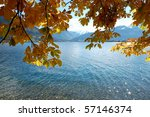 Lake in Zell am See, Austria - stock photo