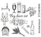 creative beer set with icons of ... | Shutterstock .eps vector #571465840