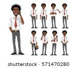 african american business man... | Shutterstock .eps vector #571470280