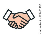 handshake friendship... | Shutterstock .eps vector #571471456