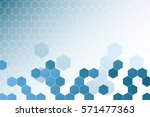 vector abstract 3d hexagon.... | Shutterstock .eps vector #571477363