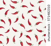 Chili Peppers Seamless Pattern.