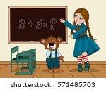 Girl Plays School Teacher With...