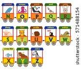 train alphabet with animals n...   Shutterstock .eps vector #571488154