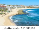mexico coastline with beautiful ... | Shutterstock . vector #571500133