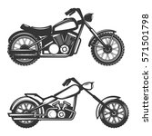set of motorcycle icons... | Shutterstock . vector #571501798