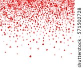 red pattern of random falling... | Shutterstock .eps vector #571502728