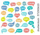 hand drawn internet acronyms... | Shutterstock . vector #571503610
