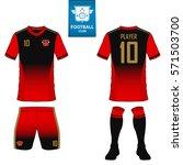 set of soccer kit or football... | Shutterstock .eps vector #571503700