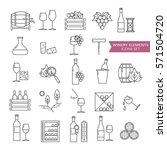 big set symbols of wine and... | Shutterstock .eps vector #571504720