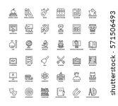 outline icons set. flat...   Shutterstock .eps vector #571506493