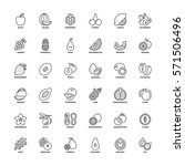 outline icons set. flat symbols ... | Shutterstock .eps vector #571506496