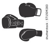 set of  the boxing gloves icons ... | Shutterstock .eps vector #571509283