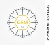 symmetrical geometric vector...