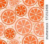 seamless orange slice with...