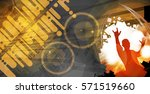 party background  dancing people | Shutterstock .eps vector #571519660