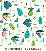 vector summer pattern in the... | Shutterstock .eps vector #571526398