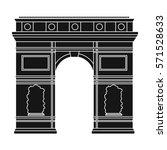 triumphal arch icon in black...   Shutterstock . vector #571528633
