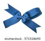 a fabric ribbon bow in blue... | Shutterstock . vector #571528690