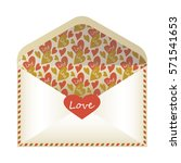 envelope on a white background   Shutterstock .eps vector #571541653
