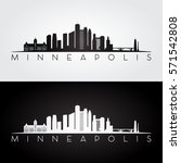 minneapolis usa skyline and