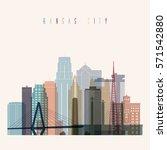 transparent style kansas city... | Shutterstock .eps vector #571542880