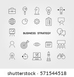 simple business strategy icons... | Shutterstock .eps vector #571544518