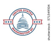 united states capitol building... | Shutterstock .eps vector #571549504