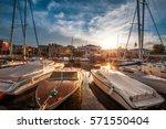 bardolino on garda lake  italy   Shutterstock . vector #571550404